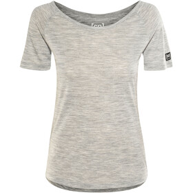 super.natural Essential Scoop Neck Tee 140 - T-shirt manches courtes Femme - gris
